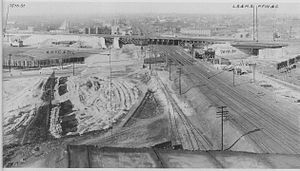 Greater Grand Crossing, Chicago - 1912 view of crossing, after grade separation