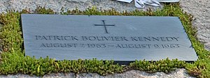 Gravestone for Patrick Bouvier Kennedy in Arlington National Cemetery.jpg