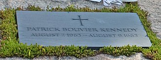Patrick Bouvier Kennedy - Gravestone in the Kennedy family plot in Arlington National Cemetery