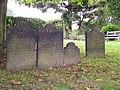 Gravestones at St. Mary's, Woodkirk - geograph.org.uk - 1197462.jpg