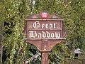 Great Baddow Village Sign - geograph.org.uk - 1499389.jpg