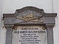 Great Reformed Church, plaque detail, Hussar sword and bird repellent, 2018 Karcag.jpg