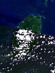 Geography of grenada wikipedia grenada nasa nlt landsat 7 visible color satellite image sciox Gallery