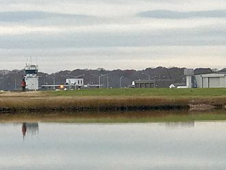 Groton–New London Airport - Groton-New London Airport reflected on the Poquonnock River.