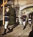 Guards leave Peleş castle.jpg