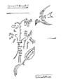 Guillaume Apollinaire - Calligramme - L'oiseau et le bouquet.png
