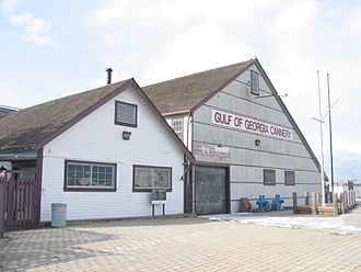 1998 World Monuments Watch - Built in 1894 to produce canned salmon, Gulf of Georgia Cannery has been declared as a National Historic Site of Canada.