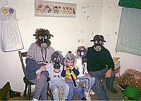 Gulfwar 1991 in Israeli shelter.jpg