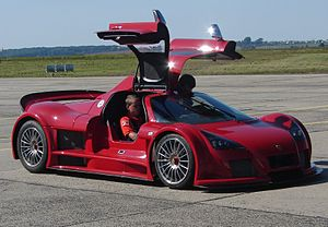 Apollo Automobil - A Gumpert Apollo at the Leipzig-Altenburg Airport
