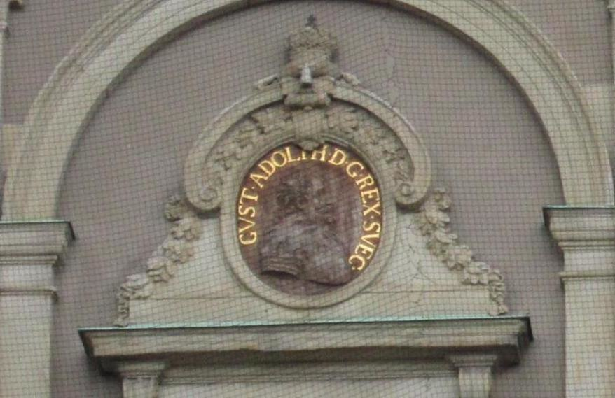 Gustav II Adolph of Sweden outdoor relief 2013 Stockholm Palace