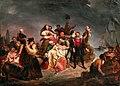 Gustave Wappers - Der Abschied nach Amerika oder die Einschiffung auf der Mayflower.jpg