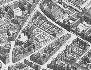 Hôtel de Condé - The Hôtel de Condé (c. 1736), as depicted on Turgot's map of Paris