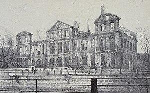 Hôtel de Klinglin - Image: Hôtel de Klinglin Lithographie de Joseph Wencker