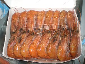Shrimp and prawn as food - Frozen shrimp