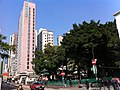 HK YMT 油麻地 Shanghai Street 上海街 香港海景絲麗酒店 Silka Seaview Hotel facade n Community Centre Rest Garden banyan trees Jan-2014.JPG