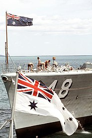 The Australian White Ensign is a distinctly Australian flag