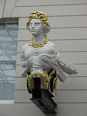 HMS Implacable (1805) - Figurehead of HMS Implacable in Neptune Court of the National Maritime Museum