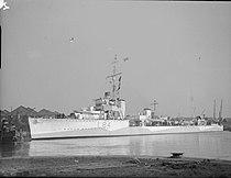 HMS Keppel docked in the East India Dock, London WWII IWM A 15039.jpg