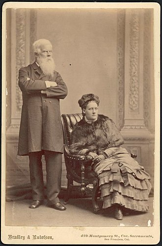 Henry Parkes - Sir Henry Parkes and Miss Annie Parkes in the 1890s