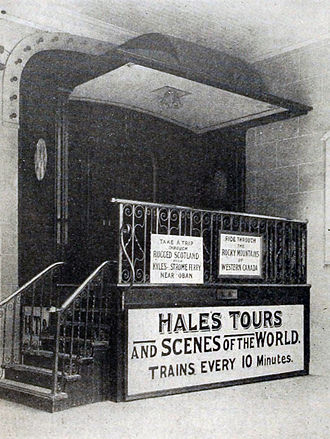 Academy 1-2-3 (cinema) - Entrance to a Hale's Tour