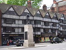 The timber-framed Staple Inn in Holborn, London