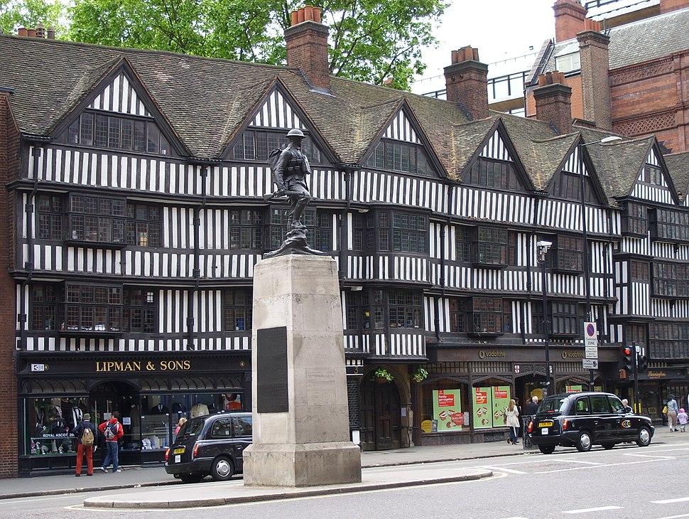 Half-timbered tudor buildings, High Holborn