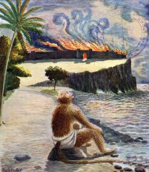 Lanka - Hanuman Watches Lanka Burn