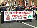 Happy Saint Patrick's Day 2010, Dublin, Ireland, Dublin Fire Brigade Pipe Band banner.jpg