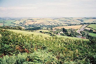 Hardown Hill - Image: Hardown Hill, view east geograph.org.uk 519414