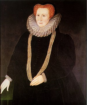 Rowland Lockey - Bess of Hardwick, 1592