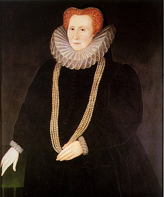 Rowland Lockey - Bess of Hardwick, 1592