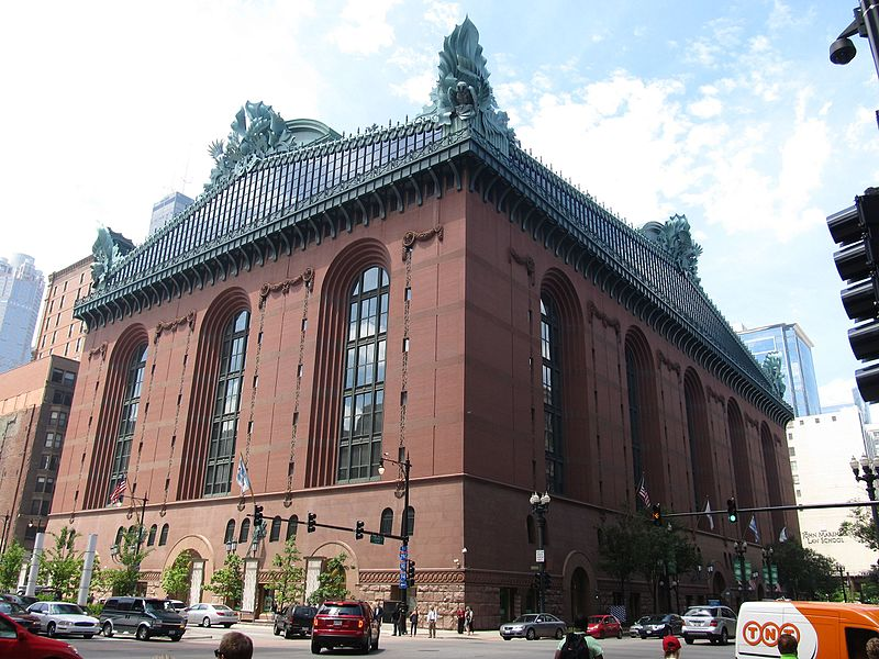 the history of harold washington library Rising amidst the iconic buildings of chicago, the harold washington library stands 10 stories high and has been noted as one of the largest libraries in the united states the architects responsible for the building, hammond, beeby and babka are known for producing designs which employ modernism with historical.