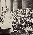 Harriet Taylor Upton speaks at the Ohio Satehouse in 1914.jpg