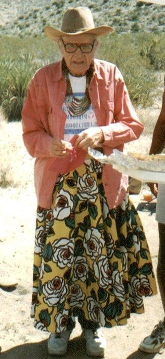 Harry Hay - Harry Hay, April 1996, Anza-Borrego Desert, Radical Faeries Campout