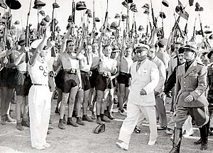 Picture of Benito Mussolini and Fascist Blacks...