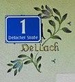 Hausnummer in Dellach, Gemeinde Feldkirchen in Kärnten, Österreich.jpg