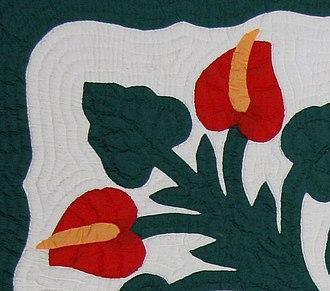 Hawaiian quilt - Detail.