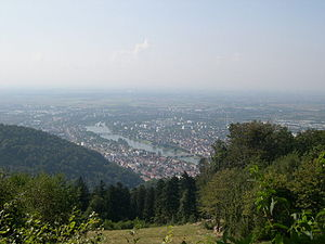 Königstuhl (Odenwald) - Image: Heidelberg from the Königstuhl
