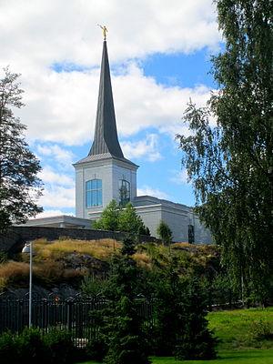 Helsinki Finland Temple - Image: Helsinki LDS Temple August 2012