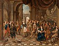 Hendrick Govaerts - A Party with Music and Actors Entertaining the Company.jpg