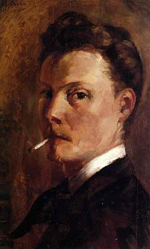 Henri-Edmond Cross - Self-Portrait with Cigarette, 1880