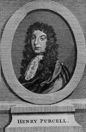 Henry Purcell - 17th-century etching of Purcell