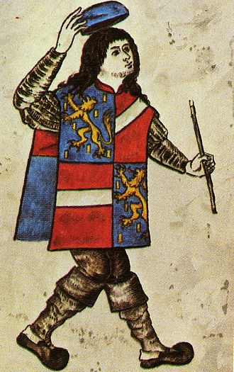 Counts of Vianden - A herald of Nassau-Vianden.