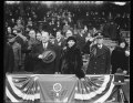 Herbert Hoover and Lou Hoover in stands LCCN2016889754.tif