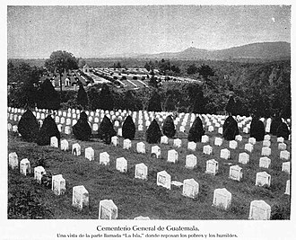 1917 Guatemala earthquake - How the Guatemala City general cemetery appeared before the earthquakes.  It was completely destroyed and never fully restored.