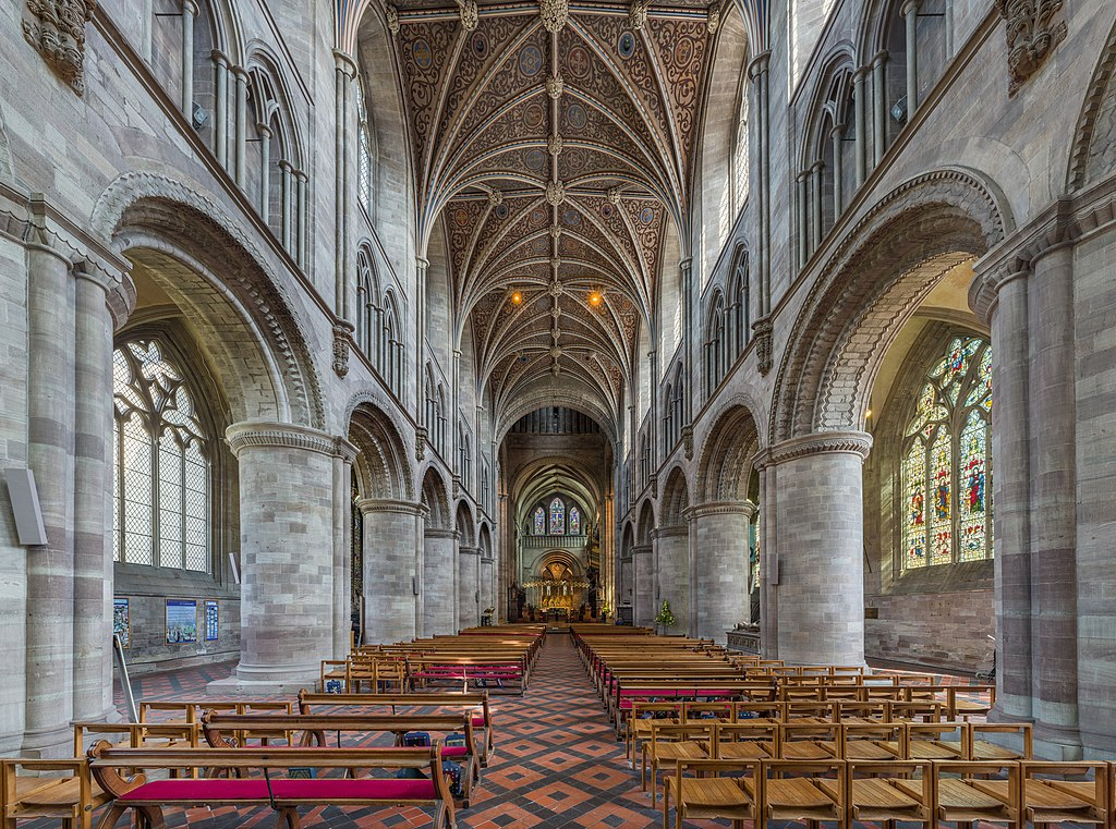 File:Hereford Cathedral Nave, Herefordshire, UK - Diliff