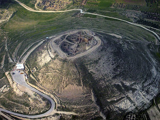 Herod the Great - Aerial photo of Herodium from the southwest