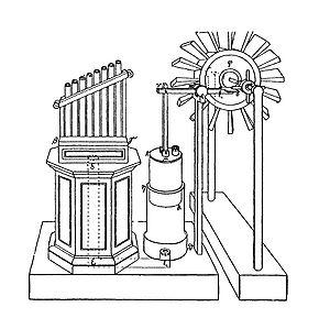 Hero of Alexandria - Hero's wind-powered organ (reconstruction)