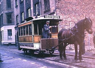 Hunger (1966 film) - A heritage horsecar of the Oslo Tramway being used during the filming of Hunger