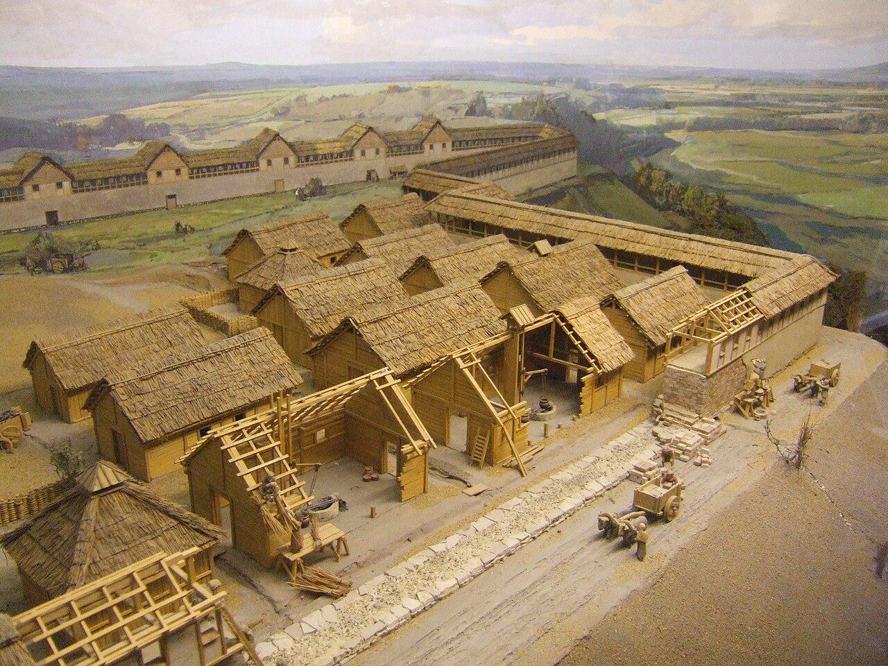 File:Heuneburg (Diorama - Ausschnitt im Heuneburg-Museum ...
